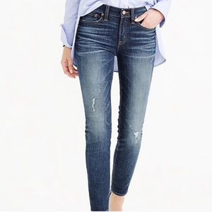 J Crew Toothpick Jean Midrise in Pacific Wash